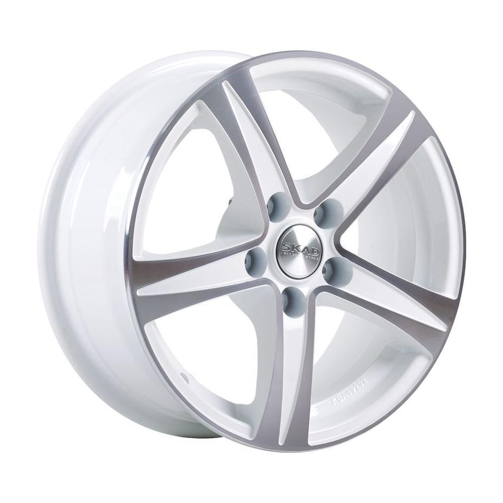 Литой диск СКАД Sakura 6.5x15/5*112 D57.1 ET43 Алмаз-белый фото
