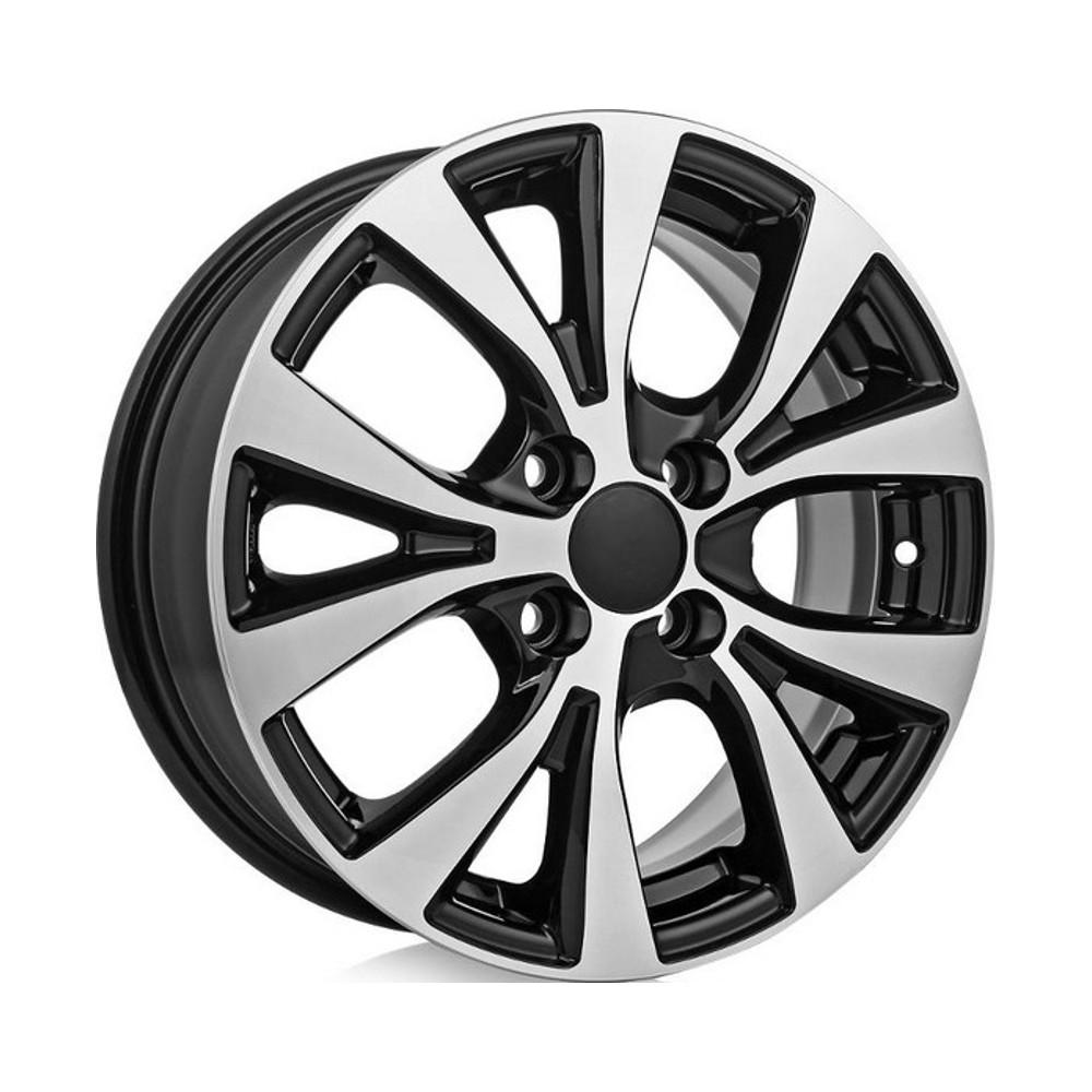 Литой диск КиК Hyundai Solaris (КС685) 6x15/4*100 D54.1 ET48 Алмаз-черный кик серия реплика кс685 15 solaris fl 6x15 4x100 d54 1 et48 silver