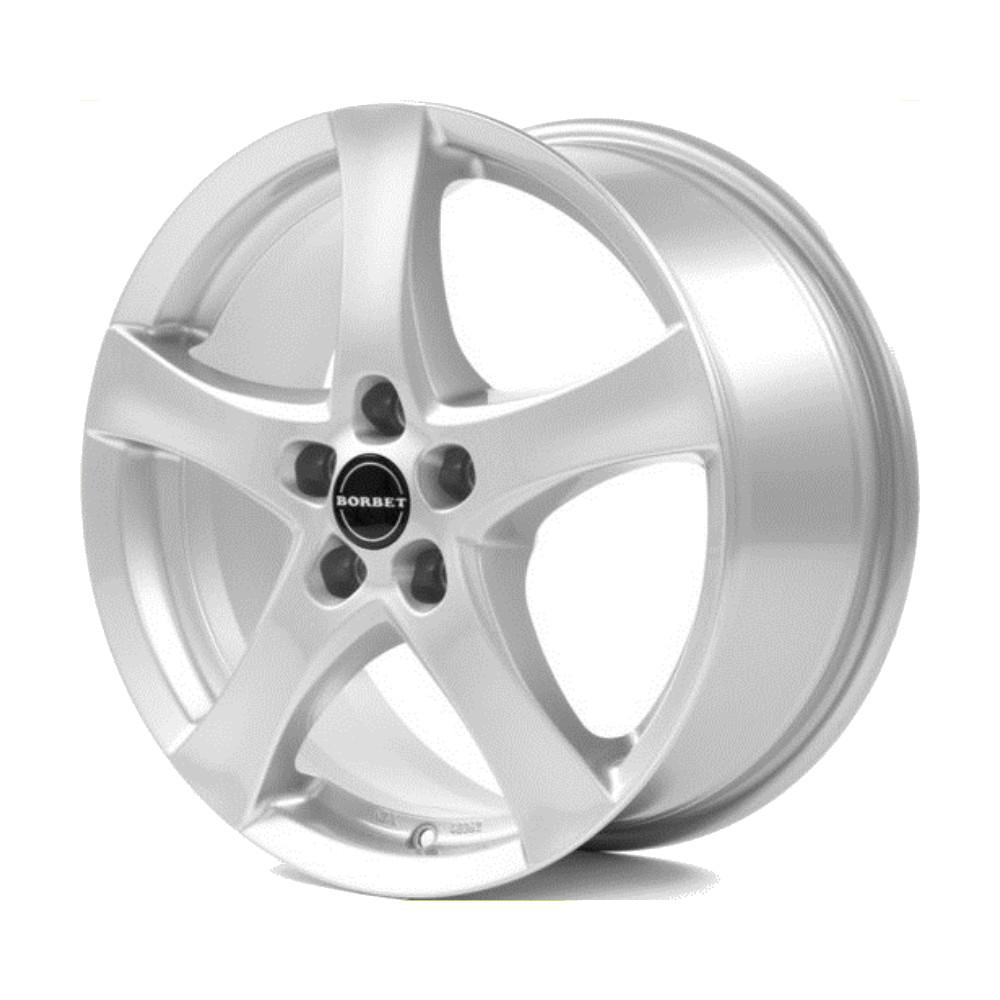 Литой диск Borbet F 7x17/5*114.3 D72.5 ET50 Brilliant Silver