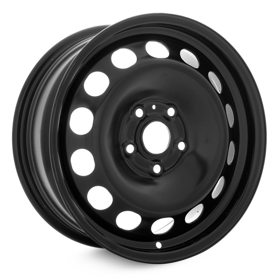 Фото - Штампованный диск Magnetto Skoda Octavia 6.5x16/5*112 D57.1 ET46 black штампованный диск magnetto vw jetta 6 5x16 5 112 d57 1 et50 black