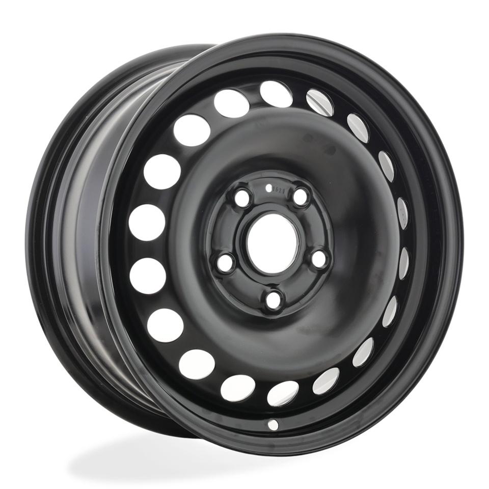 Фото - Штампованный диск Magnetto Skoda Octavia 6x15/5*112 D57.1 ET43 black штампованный диск magnetto vw jetta 6 5x16 5 112 d57 1 et50 black